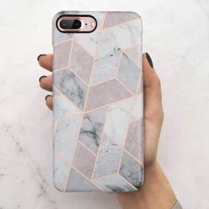 Accessories - iPhone 7/8 Plus purple marble case